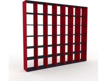 Bücherregal Rot - Modernes Regal für Bücher: Hochwertige Qualität, einzigartiges Design - 272 x 233 x 35 cm, Individuell konfigurierbar