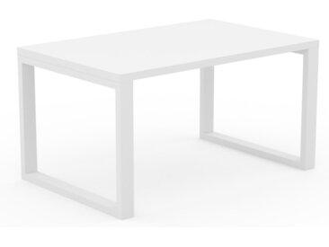 Schreibtisch Massivholz Weiß - Moderner Massivholz-Schreibtisch: Einzigartiges Design - 140 x 75 x 90 cm, konfigurierbar