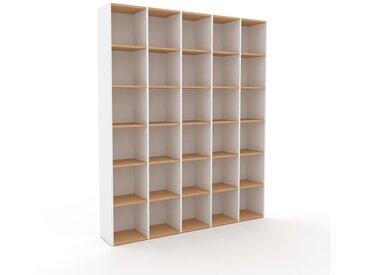 Bibliotheksregal Weiß - Individuelles Regal für Bibliothek: Einzigartiges Design - 195 x 233 x 35 cm, konfigurierbar