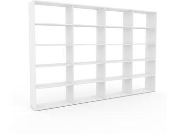 Bücherregal Weiß - Modernes Regal für Bücher: Hochwertige Qualität, einzigartiges Design - 301 x 195 x 35 cm, Individuell konfigurierbar