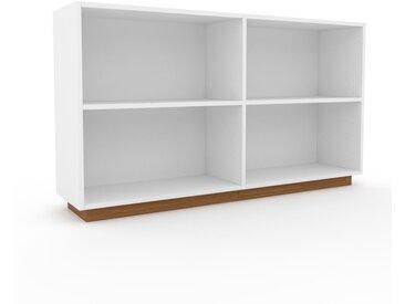 Aktenregal Weiß - Flexibles Büroregal: Hochwertige Qualität, einzigartiges Design - 152 x 85 x 35 cm, konfigurierbar