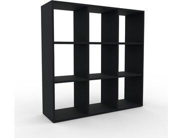 Aktenregal Schwarz - Flexibles Büroregal: Hochwertige Qualität, einzigartiges Design - 118 x 118 x 35 cm, konfigurierbar