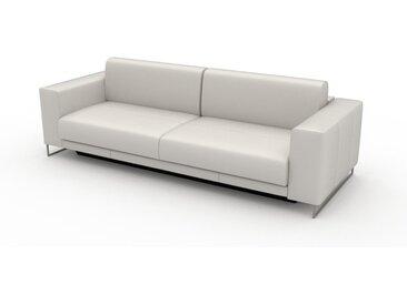 Ledersofa Weiß Pigmentiertes Leder - Elegantes, gemütliches Ledersofa: Hochwertige Qualität, einzigartiges Design - 248 x 75 x 98 cm, konfigurierbar