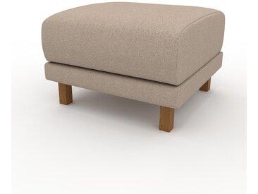 Polsterhocker Sandbeige - Eleganter Polsterhocker: Hochwertige Qualität, einzigartiges Design - 60 x 42 x 60 cm, Individuell konfigurierbar