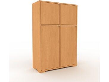 Aktenschrank Buche - Flexibler Büroschrank: Türen in Buche - Hochwertige Materialien - 79 x 120 x 35 cm, Modular