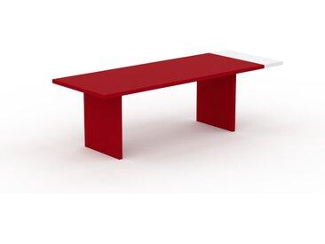 Schreibtisch Massivholz Rot - Moderner Massivholz-Schreibtisch: Einzigartiges Design - 250 x 75 x 90 cm, konfigurierbar