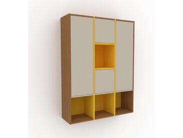 Hängeschrank Taupe - Moderner Wandschrank: Türen in Taupe - 118 x 157 x 35 cm, konfigurierbar