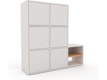 Schrankwand Weiß - Moderne Wohnwand: Türen in Weiß - Hochwertige Materialien - 118 x 118 x 35 cm, Konfigurator
