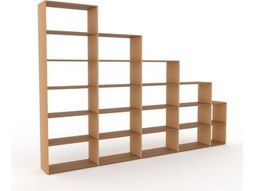 Holzregal Buche, Holz - Skandinavisches Regal aus Holz: Hochwertige Qualität, einzigartiges Design - 339 x 233 x 35 cm, Personalisierbar