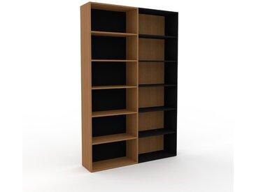 Bibliotheksregal Eiche, Holz - Individuelles Regal für Bibliothek: Einzigartiges Design - 152 x 233 x 35 cm, konfigurierbar