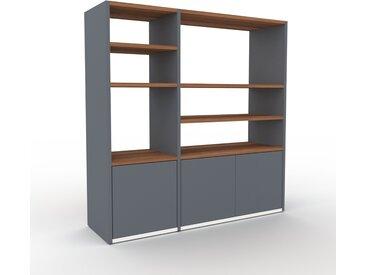 Aktenregal Anthrazit - Flexibles Büroregal: Türen in Anthrazit - Hochwertige Materialien - 116 x 118 x 35 cm, konfigurierbar