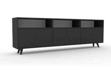 Lowboard Graphitgrau - Designer-TV-Board: Türen in Graphitgrau - Hochwertige Materialien - 226 x 72 x 35 cm, Komplett anpassbar