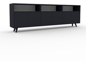 Lowboard Anthrazit - Designer-TV-Board: Türen in Anthrazit - Hochwertige Materialien - 226 x 72 x 35 cm, Komplett anpassbar
