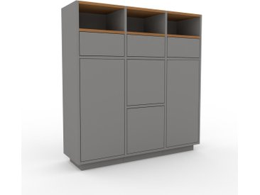 Highboard Grau - Highboard: Schubladen in Grau & Türen in Grau - Hochwertige Materialien - 118 x 124 x 35 cm, Selbst designen