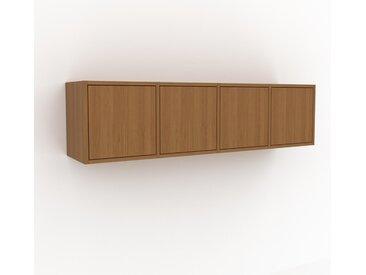 Hängeschrank Eiche - Moderner Wandschrank: Türen in Eiche - 156 x 41 x 35 cm, konfigurierbar