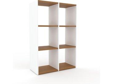 Regalsystem Weiß - Flexibles Regalsystem: Hochwertige Qualität, einzigartiges Design - 79 x 118 x 35 cm, Komplett anpassbar