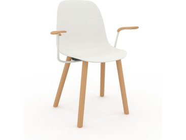 Holzstuhl in Weiß 49 x 82 x 62 cm einzigartiges Design, konfigurierbar