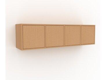 Hängeschrank Buche - Moderner Wandschrank: Türen in Buche - 156 x 41 x 35 cm, konfigurierbar