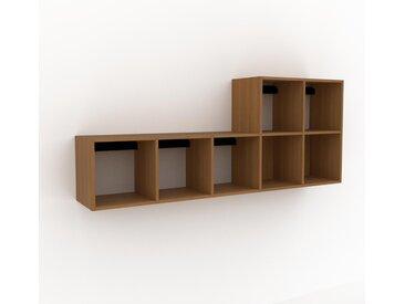Hängeschrank Eiche, Holz - Moderner Wandschrank: Hochwertige Qualität, einzigartiges Design - 195 x 80 x 35 cm, konfigurierbar