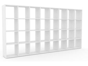 Bibliotheksregal Weiß - Individuelles Regal für Bibliothek: Einzigartiges Design - 310 x 157 x 35 cm, konfigurierbar