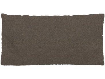 Kissen - Graubraun, 40x80cm - Wolle, individuell konfigurierbar