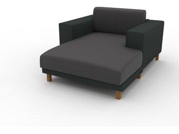 Ledersofa Anthrazit Veganes Leder - Elegantes, gemütliches Ledersofa: Hochwertige Qualität, einzigartiges Design - 128 x 75 x 162 cm, konfigurierbar