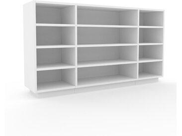 Bücherregal Weiß - Modernes Regal für Bücher: Hochwertige Qualität, einzigartiges Design - 154 x 85 x 35 cm, Individuell konfigurierbar