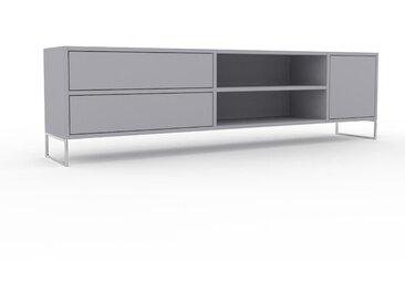 Lowboard Lichtgrau - TV-Board: Schubladen in Lichtgrau & Türen in Lichtgrau - Hochwertige Materialien - 190 x 53 x 35 cm, Komplett anpassbar