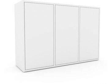 Sideboard Weiß - Designer-Sideboard: Türen in Weiß - Hochwertige Materialien - 118 x 80 x 35 cm, Individuell konfigurierbar