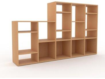 Regalsystem Buche, Holz - Flexibles Regalsystem: Hochwertige Qualität, einzigartiges Design - 195 x 118 x 35 cm, Komplett anpassbar