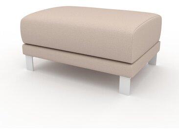 Polsterhocker Cremeweiß - Eleganter Polsterhocker: Hochwertige Qualität, einzigartiges Design - 80 x 42 x 60 cm, Individuell konfigurierbar