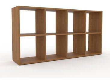 Regalsystem Eiche, Holz - Flexibles Regalsystem: Hochwertige Qualität, einzigartiges Design - 156 x 80 x 35 cm, Komplett anpassbar