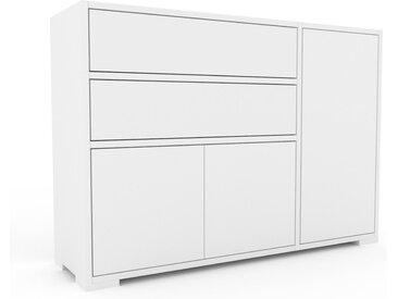 Sideboard Weiß - Sideboard: Schubladen in Weiß & Türen in Weiß - Hochwertige Materialien - 116 x 81 x 35 cm, konfigurierbar