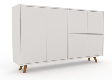 Sideboard Weiß - Designer-Sideboard: Türen in Weiß - Hochwertige Materialien - 152 x 91 x 35 cm, Individuell konfigurierbar