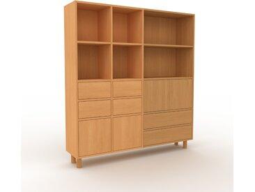 Aktenschrank Buche - Büroschrank: Schubladen in Buche & Türen in Buche - Hochwertige Materialien - 154 x 168 x 35 cm, Modular