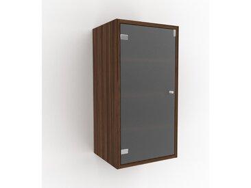 Hängeschrank Kristallglas satiniert - Moderner Wandschrank: Türen in Kristallglas satiniert - 41 x 80 x 35 cm, konfigurierbar