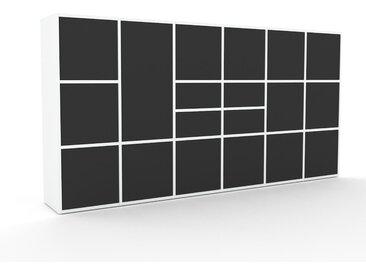 Aktenschrank Graphitgrau - Büroschrank: Schubladen in Graphitgrau & Türen in Graphitgrau - Hochwertige Materialien - 233 x 118 x 35 cm, Modular