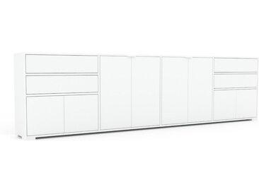 Sideboard Weiß - Sideboard: Schubladen in Weiß & Türen in Weiß - Hochwertige Materialien - 301 x 81 x 35 cm, konfigurierbar
