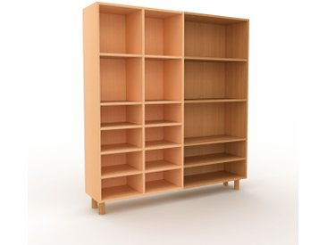 Bücherregal Buche, Holz - Modernes Regal für Bücher: Hochwertige Qualität, einzigartiges Design - 154 x 168 x 35 cm, konfigurierbar