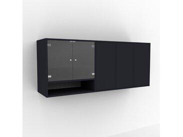 Hängeschrank Anthrazit - Moderner Wandschrank: Türen in Anthrazit - 193 x 80 x 47 cm, konfigurierbar