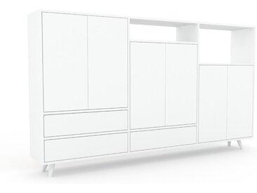Highboard Weiß - Highboard: Schubladen in Weiß & Türen in Weiß - Hochwertige Materialien - 226 x 130 x 35 cm, Selbst designen