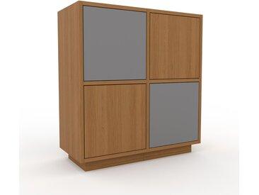 TV-Schrank Eiche - Moderner Fernsehschrank: Türen in Eiche - 79 x 85 x 35 cm, konfigurierbar