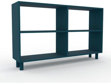 Bücherregal Blaugrün - Modernes Regal für Bücher: Hochwertige Qualität, einzigartiges Design - 152 x 91 x 35 cm, Individuell konfigurierbar