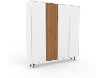 Schrank Weiß - Moderner Schrank: Türen in Weiß - Hochwertige Materialien - 156 x 168 x 35 cm, Selbst zusammenstellen