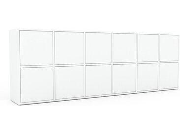 Sideboard Weiß - Designer-Sideboard: Türen in Weiß - Hochwertige Materialien - 233 x 80 x 35 cm, Individuell konfigurierbar