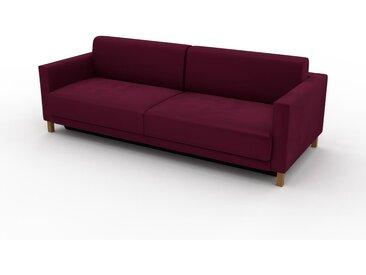 Sofa 3-Sitzer Samt Brombeerrot Samt - Elegantes, gemütliches 3-Sitzer Sofa: Hochwertige Qualität, einzigartiges Design - 224 x 75 x 98 cm, konfigurierbar