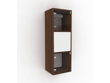 Hängeschrank Kristallglas klar - Moderner Wandschrank: Türen in Kristallglas klar - 41 x 118 x 35 cm, konfigurierbar