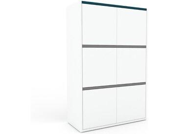 Highboard Weiß - Elegantes Highboard: Türen in Weiß - Hochwertige Materialien - 77 x 118 x 35 cm, Selbst designen