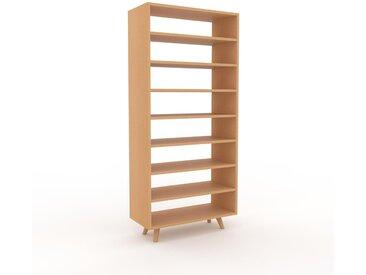 Bücherregal Buche, Holz - Modernes Regal für Bücher: Hochwertige Qualität, einzigartiges Design - 77 x 168 x 35 cm, konfigurierbar