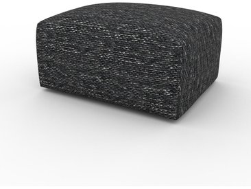 Polsterhocker Lavaschwarz - Eleganter Polsterhocker: Hochwertige Qualität, einzigartiges Design - 80 x 42 x 64 cm, Individuell konfigurierbar